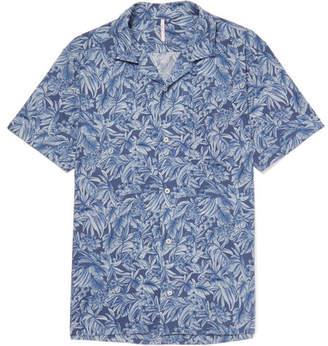 Incotex Printed Cotton And Linen-Blend Shirt