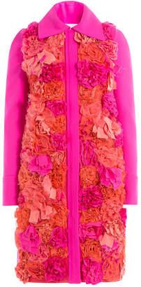Victoria Beckham Victoria Appliquéd Flower Coat