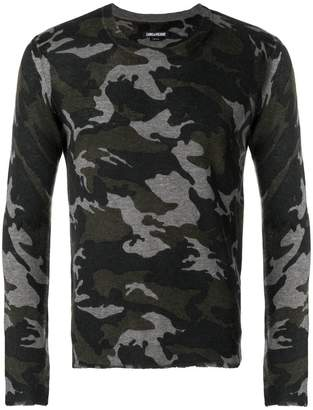 Zadig & Voltaire camouflage sweater