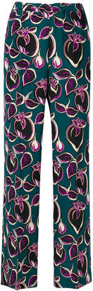 Aspesi fruit print straight trousers