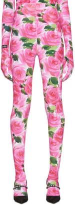 Richard Quinn Pink Floral Leggings