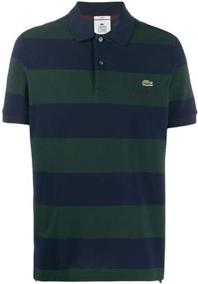Lacoste Live embroidered logo striped polo shirt