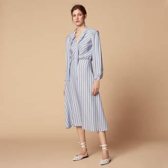 Sandro Striped long-sleeved dress