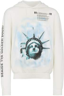 Off-White Liberty-print cotton hoodie
