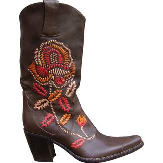 Free Lance Leather Cowboy Boots