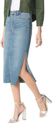 Sam Edelman The Maribelle Mid Rise Denim Skirt