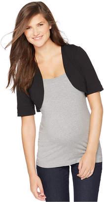 Motherhood Maternity Elbow-Sleeve Cropped Jacket