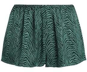 Love Stories Zebra-Print Sateen Pajama Shorts