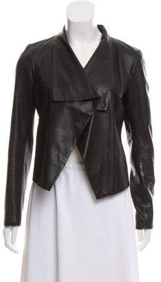 Theory Leather Shawl Collar Jacket