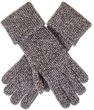 Black Ladies' Grey Marl Cashmere Gloves