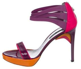 Ruthie Davis Patent Leather Platform Sandals