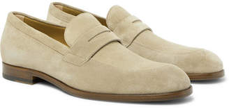 HUGO BOSS Brighton Suede Penny Loafers - Men - Sand
