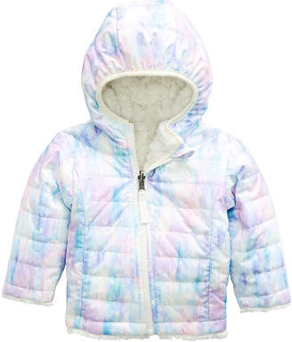 The North Face Reversible Mossbud Swirl Hooded Jacket, Size 6-24 Months