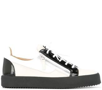 Giuseppe Zanotti Design two-tone lace up sneakers