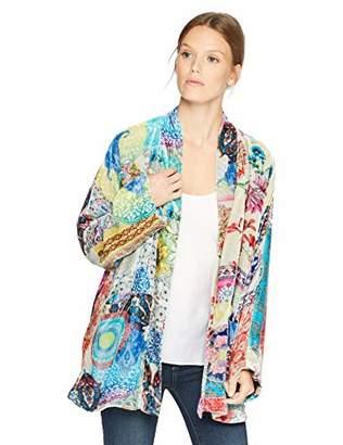 0c6f4aa01 Johnny Was Women's Velvet Shawl Collar Kimono