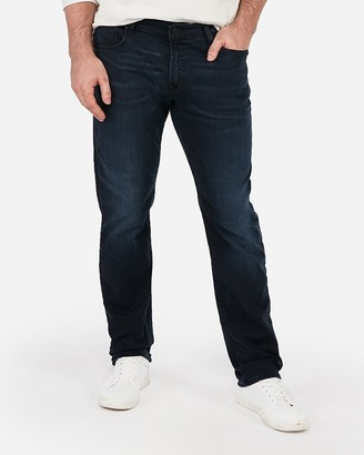 Express Slim Straight Dark Wash Stretch Jeans