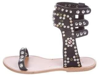 Isabel Marant Elvis Embellished Leather Sandals