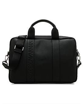 Emporio Armani Embossed Stripe Briefcase