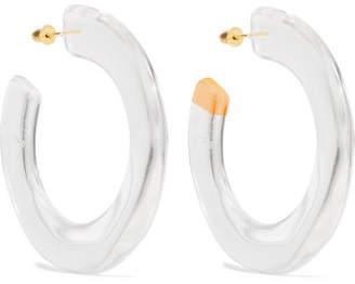 Cult Gaia Mira Acrylic Hoop Earrings - Clear