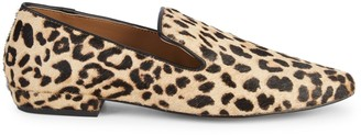 Steven by Steve Madden Havi Leopard-Print Calf Hair & Leather Loafers