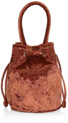 Loeffler Randall Jesmyn Crushed Velvet Bucket Bag