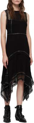 AllSaints Alicia Sleeveless Lace Midi Dress