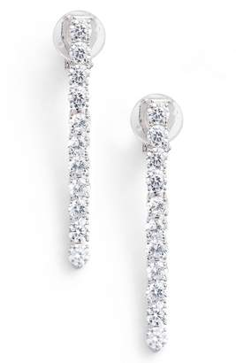 Nadri Cubic Zirconia Linear Drop Earrings