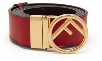 Fendi Logo Embellished Leather Belt - Womens - Red
