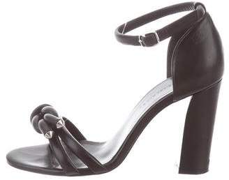 Balenciaga Leather Ankle Strap Sandals