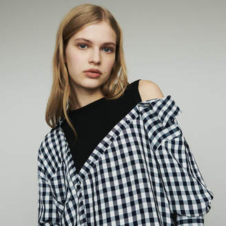Maje Layered shirt in gingham
