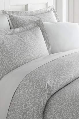IENJOY HOME Home Spun Premium Ultra Soft 3-Piece Vine Trellis Print Duvet Cover Queen Set - Gray