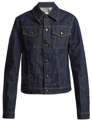 Helmut Lang Striped Denim Jacket - Womens - Dark Blue
