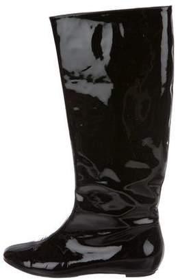 Saint Laurent Patent Knee-High Boots