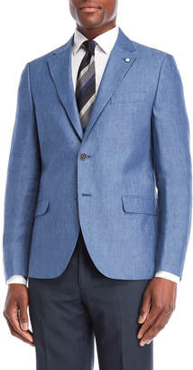 Nautica Blue Briella Linen Suit Jacket