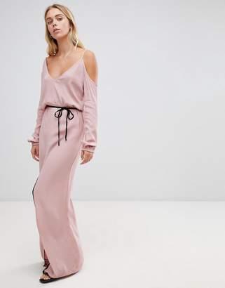 Glamorous asymmetric maxi dress