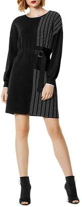 Karen Millen Pleated Detail Sweater Dress