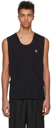 11 By Boris Bidjan Saberi Black Sleeveless Front Logo T-Shirt