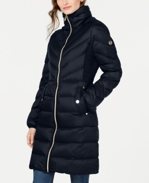 Michael Kors Michael Petite Down Hooded Puffer Coat, Created For Macy's