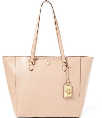 Ralph Lauren Leather Medium Halee Tote $198 thestylecure.com