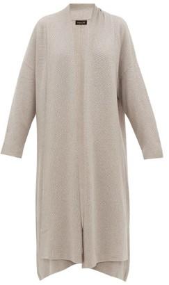 eskandar Moss Stitch Cashmere Cardigan - Womens - Light Grey