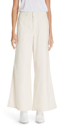 Ganni Bluebell Wide Leg Pants