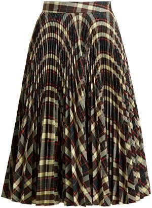 Calvin Klein Tartan pleated midi skirt