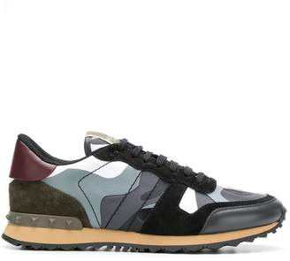 Valentino Rockrunner camouflage low-top sneakers