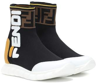 Fendi Kids MANIA sock sneakers