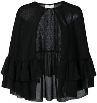 Fuzzi sheer cape jacket
