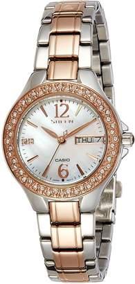 Casio Men's Sheen SHE3501SBD-1A Stainless-Steel Quartz Watch
