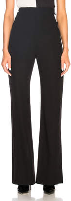 Ann Demeulemeester High Waisted Trousers in Black | FWRD