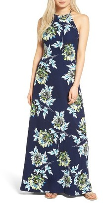 Women's Mimi Chica Floral Print High Neck Maxi Dress $45 thestylecure.com