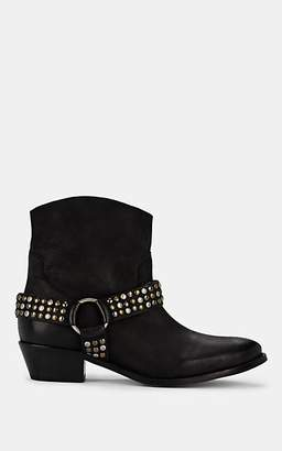 FiveSeventyFive Women's Harness-Strap Leather Ankle Boots - Black
