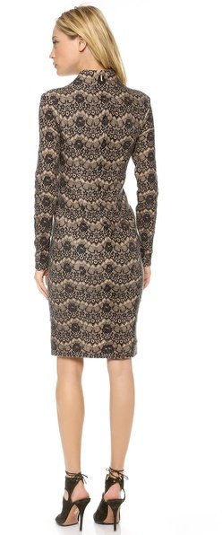 Rachel Roy Long Sleeve Sculpted Dress